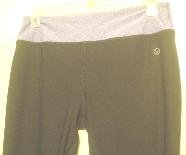 Vogo Athletica Purple Waist Black Yoga Pants Leggings Fun Leisure Wear Sz L Image 2