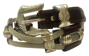Nannini Nanni Milano Braided Metal Belt