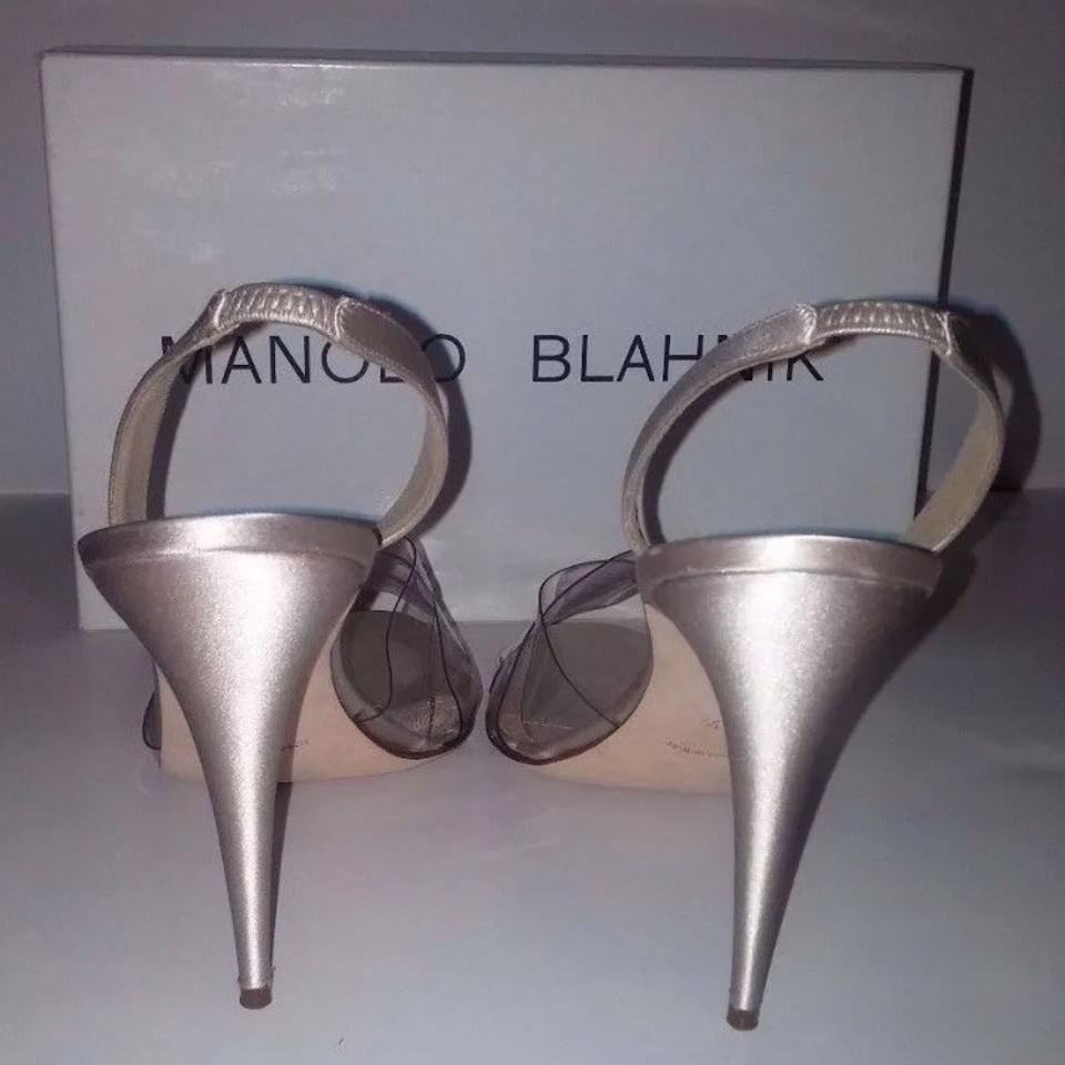 Manolo Blahnik Nude Sex In The City Pumps Size US 9.5
