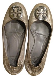 Tory Burch silver and or / metallic good Flats