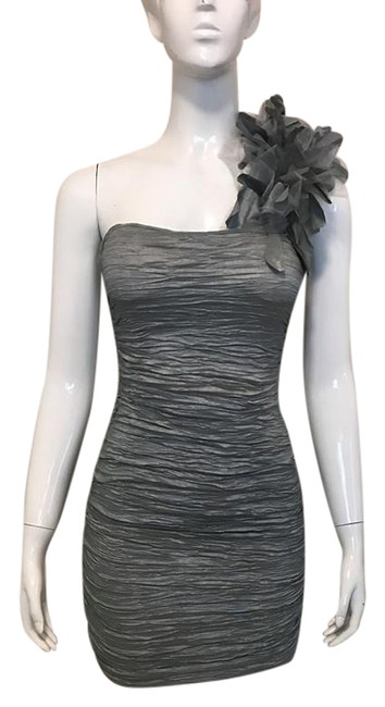 Item - Gray Mid-length Cocktail Dress Size 4 (S)