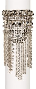 Free Press Free Press Wide Mesh Stone Fringe Cuff
