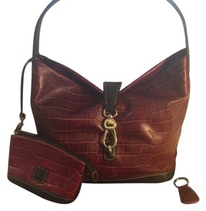 Dooney & Bourke Croc Embossed Leather & Hobo Bag