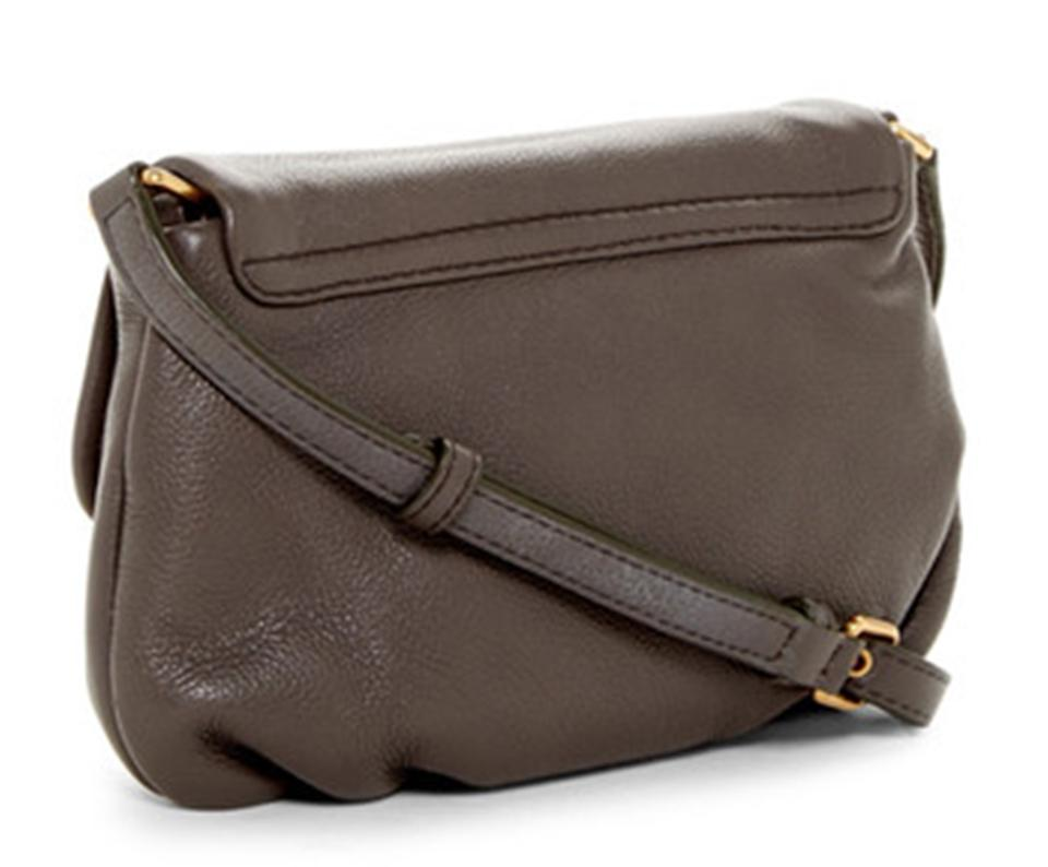 ec99db9e5be42 Marc by Marc Jacobs Italian Classic Q Percy Flap Faded Aluminum - Gold  Leather Cross Body Bag