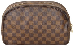 Louis Vuitton Trousse Cosmetic Pouch Brown Clutch