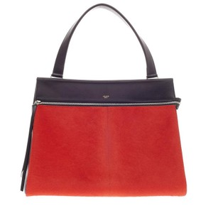 Céline Celine Pony Hair Tote in Red