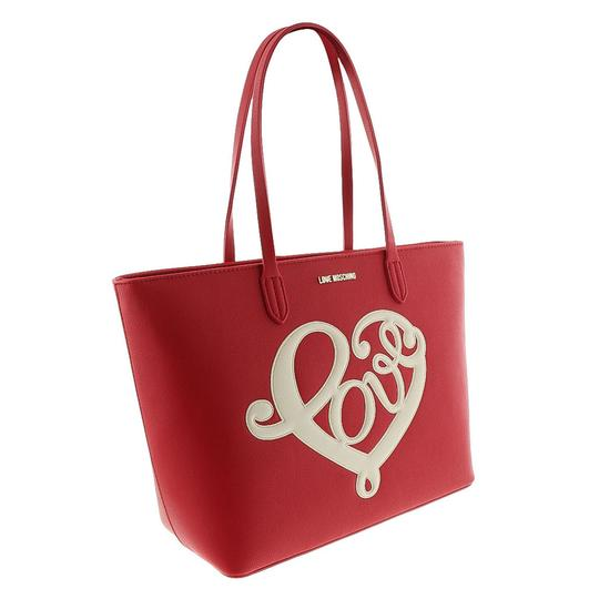 moschino red shopper tote tote tradesy. Black Bedroom Furniture Sets. Home Design Ideas