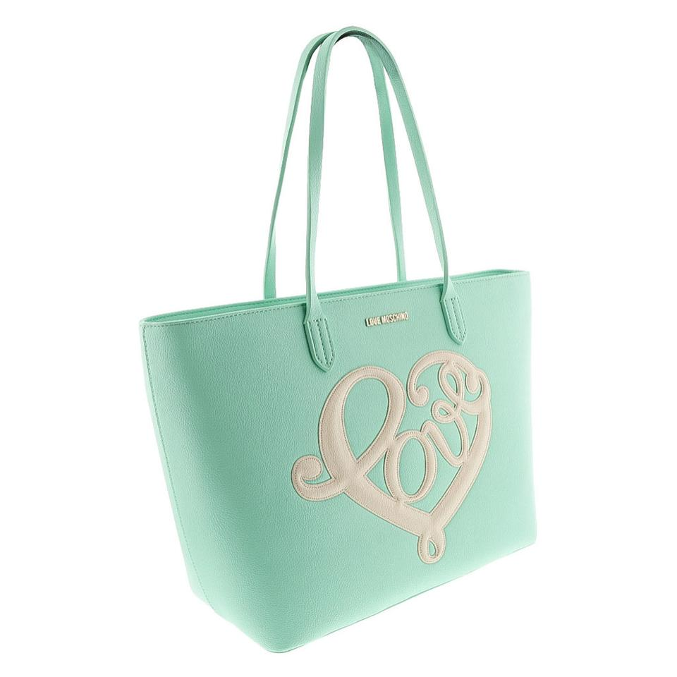 Love Moschino Shopper/Tote Mint Polyurethane - Synthetic Leather ...