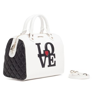 Moschino Satchel in White/Black Speedy