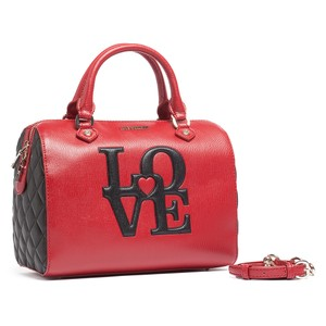 Moschino Satchel in Red/Black Speedy