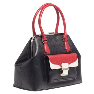 Moschino Satchel in Black/Red/Ivory Vintage