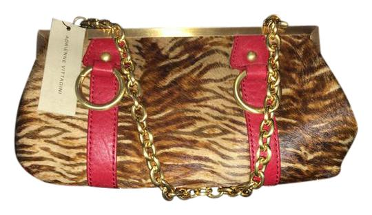 Preload https://img-static.tradesy.com/item/20380463/adrienne-vittadini-red-brown-and-tan-leather-pony-hair-baguette-0-4-540-540.jpg