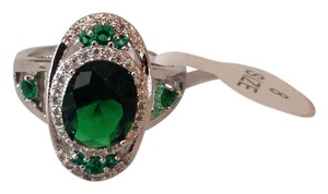 .925 Sterling Silver Emerald