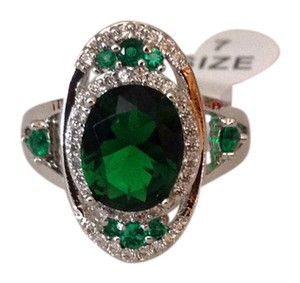 Other .925 Sterling Silver Emerald