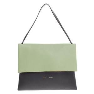Céline Celine Leather Tote in Green