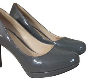 Cole Haan Ironstone Patent/Gray Pumps