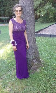 David's Bridal Plum Mother Of The Bride Gown Dress