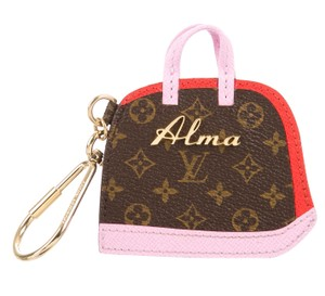 Louis Vuitton Brown, pink, red Louis Vuitton monogram BB Sac Alma keychain bag charm