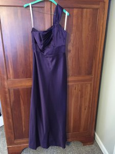 DaVinci Bridal Eggplant Da Vinci Eggplant One Shoulder Strap Long Dress Dress