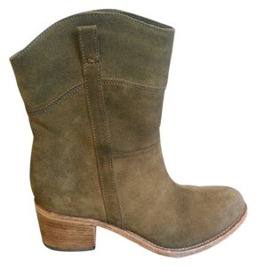 Alberto Fermani Suede Italian Stacked Heel Brown Boots