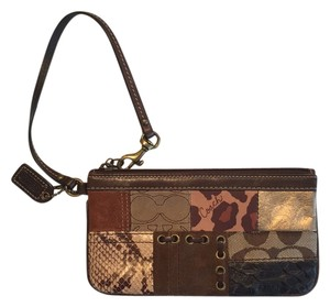 Coach Wristlet in Brown, Multiple