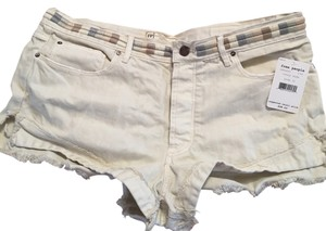 Free People Cuffed Shorts Beige