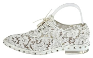 Givenchy Studded Lace Derby Oxfords Nika Size 39 White Flats