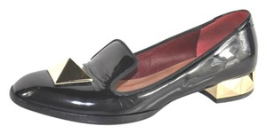 Valentino Patent Leather Loafers Black Flats