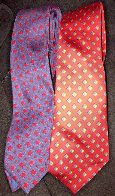 Item - Multi-colored Silk Two Men Tie/Bowtie