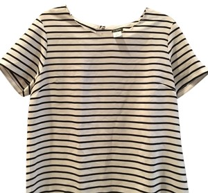 J.Crew T Shirt Navy and white tee