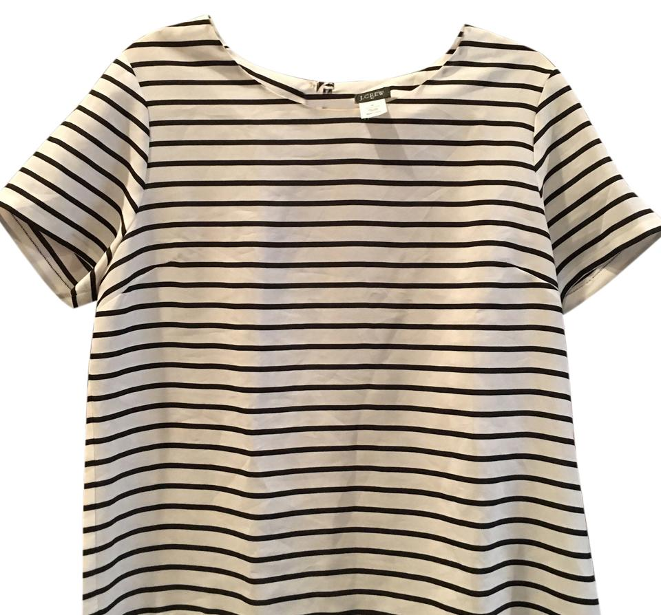 J.Crew Navy and White Style 77401 Tee Shirt Size 8 (M) - Tradesy f00546a57