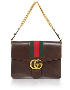 Gucci Current Season Flap Leather Shoulder Bag
