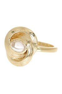 Cole Haan NWT Gold Plated Stone Ring