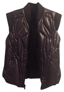 BCBGMAXAZRIA Quilted Sweater Trim Puffy Vest