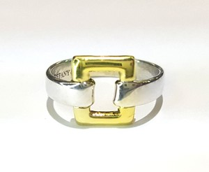 Tiffany & Co. Beautiful 18K & Sterling Silver Square Ring Size 5.5