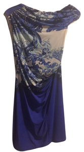Roberto Cavalli Resort Brocade Shimmer Short Dress