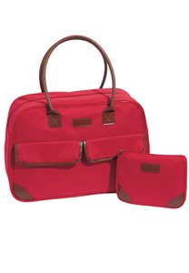 Other Cosmetic Canvas Tote Set red Travel Bag