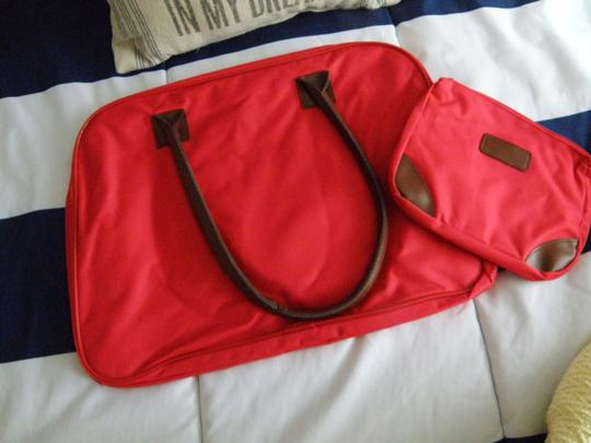 Other Cosmetic Canvas Tote Set red Travel Bag Image 1