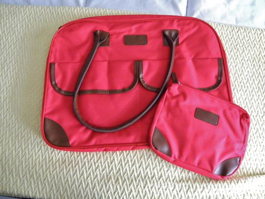 Other Cosmetic Canvas Tote Set red Travel Bag Image 3