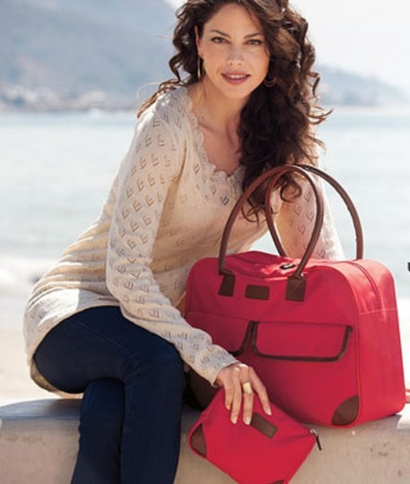 Other Cosmetic Canvas Tote Set red Travel Bag Image 4