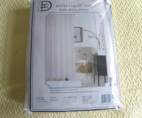 Hotel Collection Home Hotel Collection White Cottage Chic Waffle Shabby Shower Curtain Image 4
