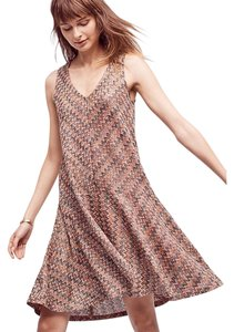 Anthropologie short dress Maeve Westwater Drop Waist Knit Metallic on Tradesy