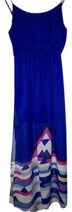 Royal Blue Maxi Dress by Love, Fire Summer Sheer Maxi