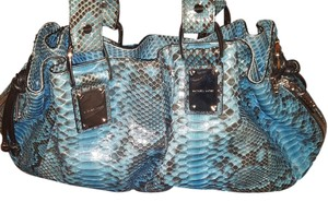Michael Kors Tote in Teal/Grey