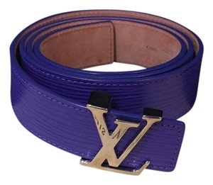 Louis Vuitton LOUIS VUITTON Purple 100% 'EPI' Leather Belt