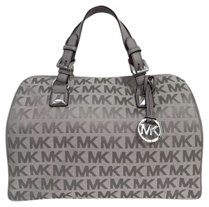 MICHAEL Michael Kors Satchel in LIGHT GREY