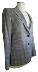 Paul Stuart Jacket Work Office Baby Alpaca light grey plaid Blazer