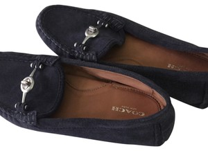 Coach Navy Blue Flats
