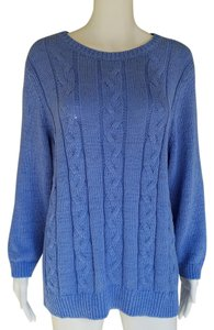 Talbots Cotton Blend Crewneck Cable Knit Sweater