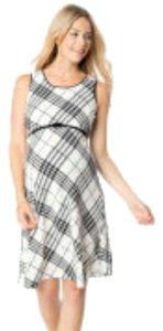Motherhood Maternity black and white plaid fit and flare
